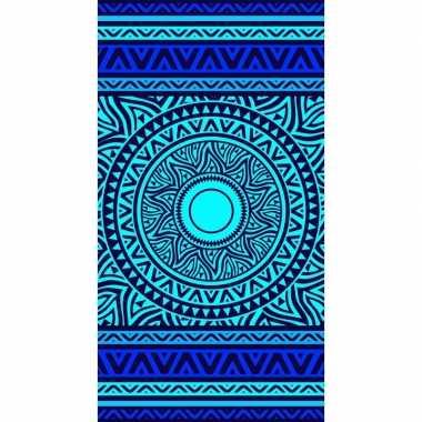 Badlaken met blauw mandala print luwatu voor kinderen 86 x 160 prijs