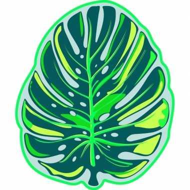 Badlaken tropisch blad foglia voor volwassenen 130 x 155 prijs
