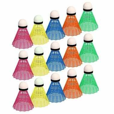 Badminton set gekleurd shuttles prijs