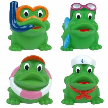 Badspeelgoed kikkers 4 stuks in tasje prijs