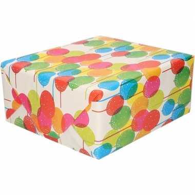 Ballonnen motief cadeaupapier 70 x 200 cm prijs