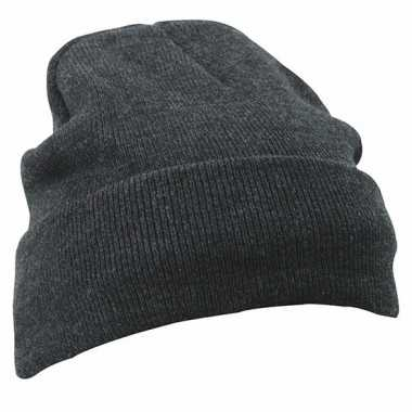 Basis wintermutsen grijs voor heren prijs