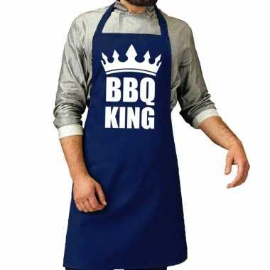 Bbq schort bbq king kobalt blauwvoor heren prijs