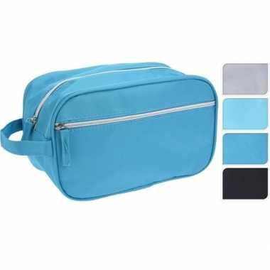 Beautycase lichtblauw 27 cm prijs