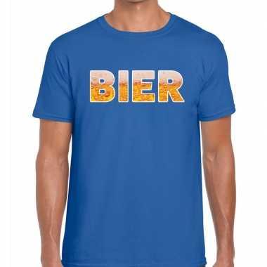 Bier fun t-shirt blauw voor heren prijs