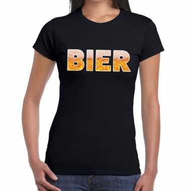 Bier fun t-shirt zwart voor dames prijs