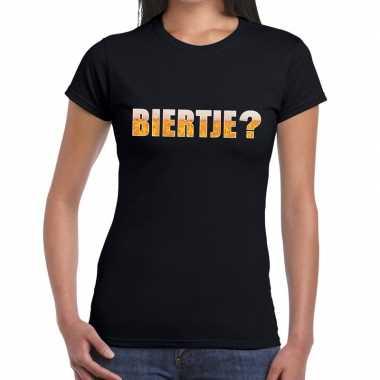 Biertje fun t-shirt zwart voor dames prijs