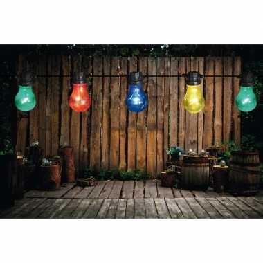 Binnen/buiten verlichting lichtsnoer 10 meter met gekleurde led lampj