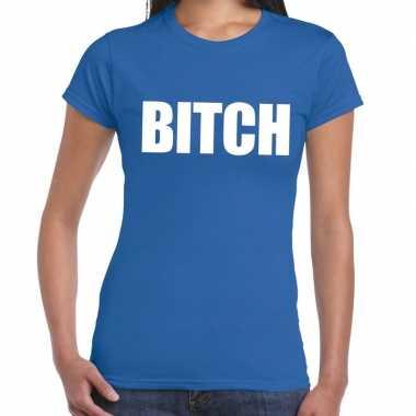 Bitch fun t-shirt blauw voor dames prijs