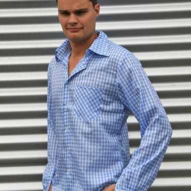 geruite blouse heren
