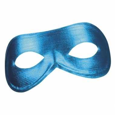 Blauw mysterieus oogmasker glimmend voor dames prijs