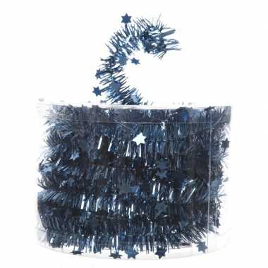 Blauwe feestslinger folie met ster 700 cm prijs