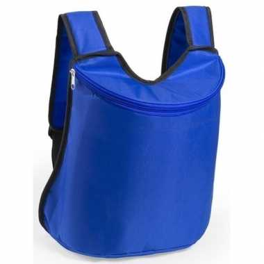 Blauwe koeltas rugzak/gymtas 40 cm met drawstring/rijgkoord prijs