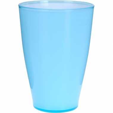 Blauwe kunststof drinkbeker 14 cm prijs