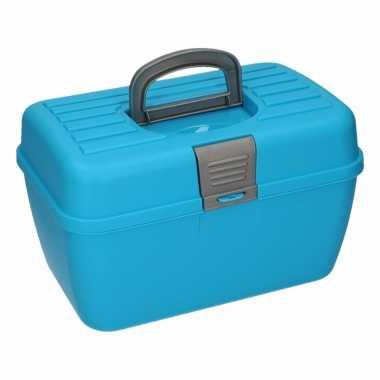 Blauwe opberg/sorteer box 28 cm prijs