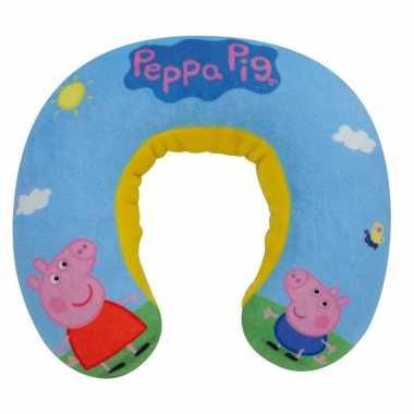 Blauwe peppa big/pig nickelodeon reiskussen voor jongens prijs