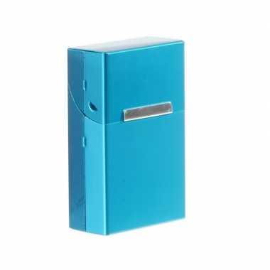 Blauwe sigarettenbox aluminium prijs