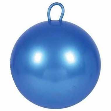 Blauwe skippybal 60 cm voor jongens/meisjes prijs