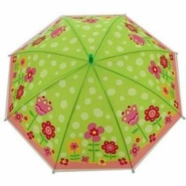 Bloemenprint parapluutje 70 cm voor meisjes prijs