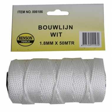Bouwlijn touw wit 50 x 1,8 prijs