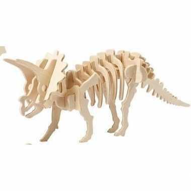Bouwpakket hout triceratops prijs