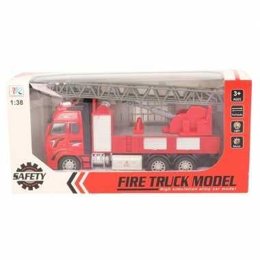 Brandweerauto speelgoed voertuig met licht en geluid 1:38 prijs