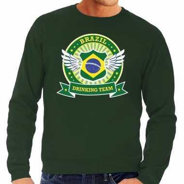 Brazil drinking team sweater groen heren prijs
