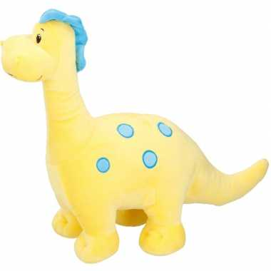 Brontosaurus pluche dino knuffel geel 37 cm prijs