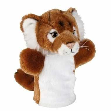 Bruin/witte tijgers handpoppen knuffels 26 cm knuffeldieren prijs