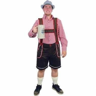 Bruine bierfeest/oktoberfest broek verkleedkleding voor heren prijs