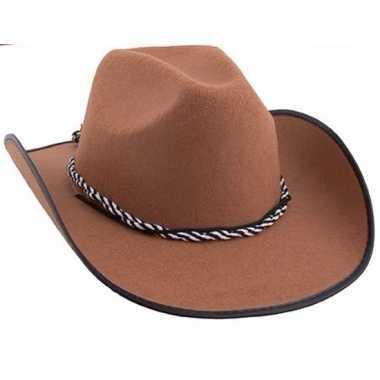 Vergelijk bruine cowboyhoed volwassenen prijs