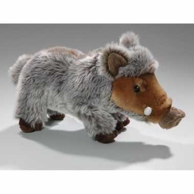 Bruine/grijze wilde zwijnen knuffels 24 cm knuffeldieren prijs