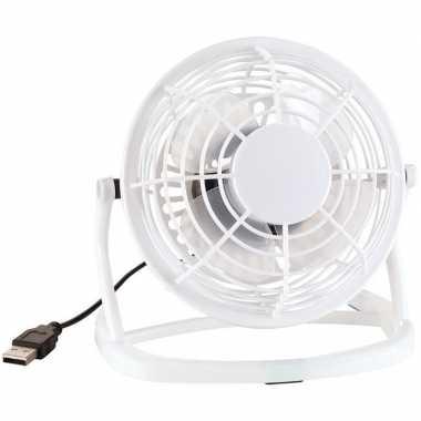Bureau ventilator met usb wit prijs
