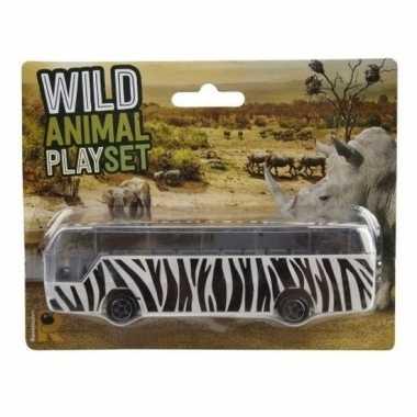 Bussafari speelgoed auto zebra print prijs