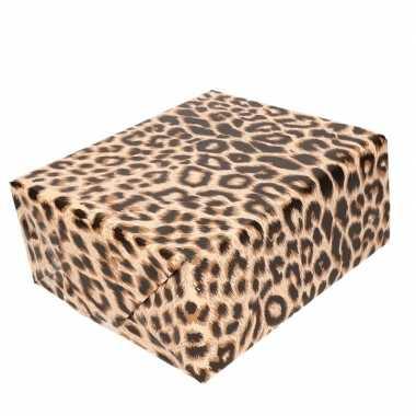 Cadeaupapier panterprint/luipaardprint 200 cm prijs