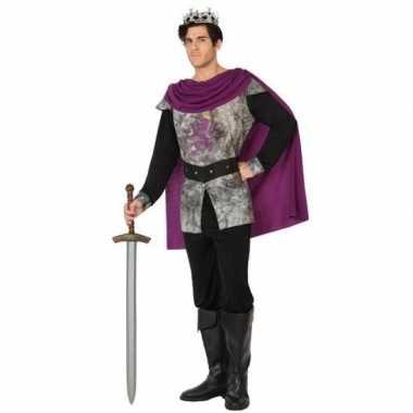 Carnavalskostuum middeleeuwse ridder/koning voor heren prijs