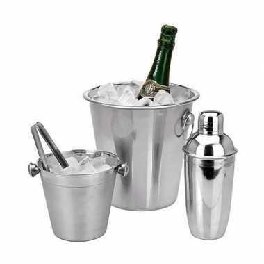 Cocktails maken barset 3-delig prijs