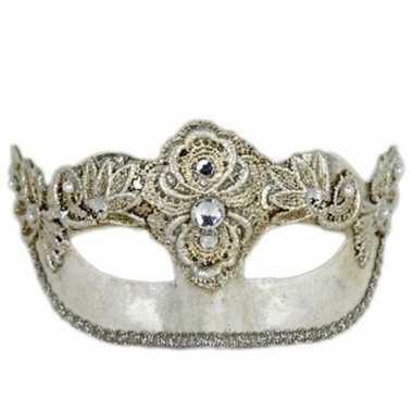 Colombina italiaans oogmasker zilver prijs