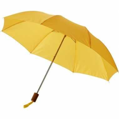 Compacte paraplu geel 56 cm prijs