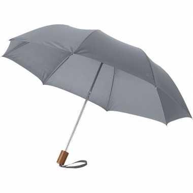 Compacte paraplu grijs 56 cm prijs