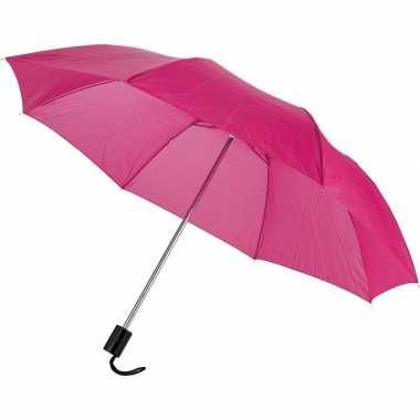 Compacte paraplu roze 56 cm prijs