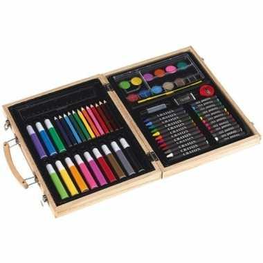 Complete luxe kleurset in koffer prijs