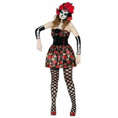 Day of the dead halloween verkleed jurkje voor dames prijs