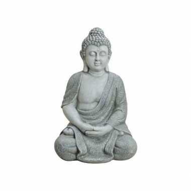 Decoratie boeddha beelden voor binnen grijs 62 cm prijs
