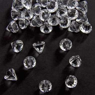 Decoratie diamantjes transparant 12 mm prijs