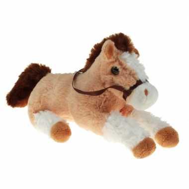 Dieren knuffel paard/pony beige/wit 30 cm prijs