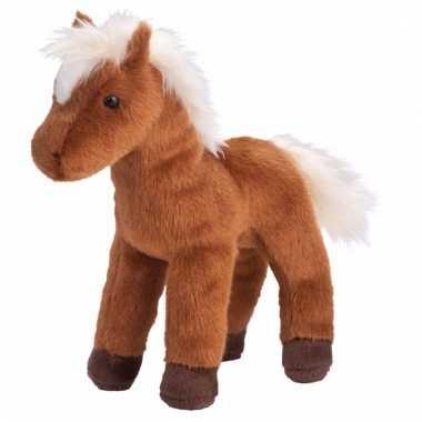 Dieren knuffel paard/pony bruin 20 cm prijs