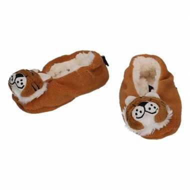 Dieren pantoffels/sloffen tijgertje voor babies prijs