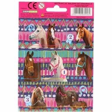 Dieren stickers paarden 32 stuks set 5 prijs