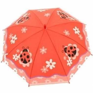 Dierenprint parapluutje 70 cm lieveheersbeestje voor meisjes prijs